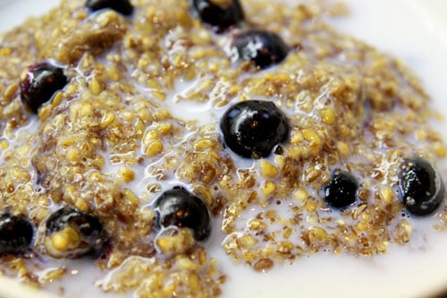 Red River with Ground Flax and Blueberries