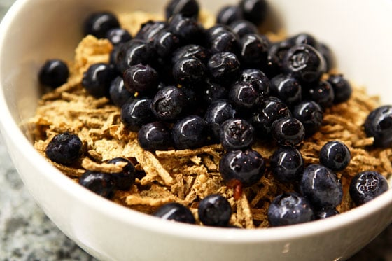Weight Loss Tip - Bran Flakes and All Bran with Blueberries