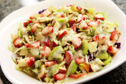 Weight Loss Tip - Broccoli Slaw Chicken and Fruit Salad