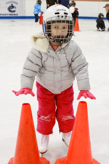 Wordless Wednesday - Olivia - First Skating Lesson