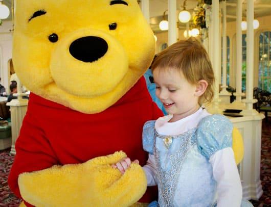 Meeting Winnie the Pooh - Olivia
