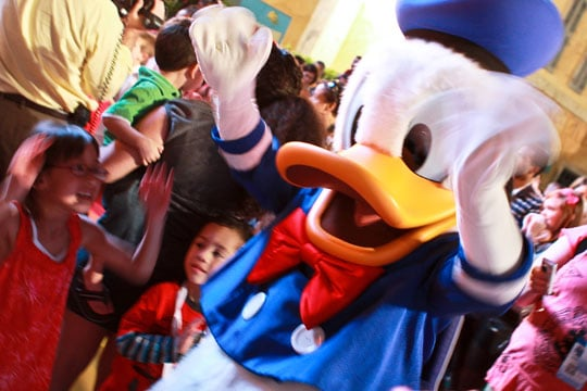 Disney Social Media Moms Celebration -- Dancing with Donald the Duck