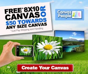 Free Canvas Print March Offer from Canvas People