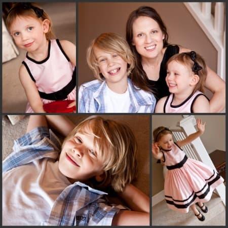Janice with Olivia and Jackson