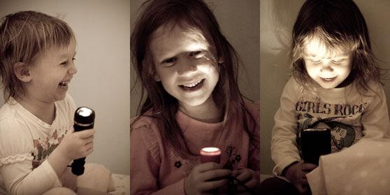 Got a flashlight??? Kids can make a game…