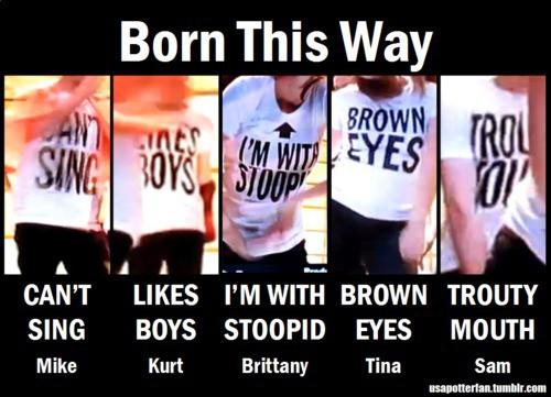 Glee Born This Way Shirts