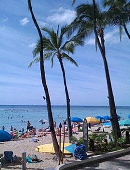 Waikiki beach - mobile upload