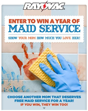 Win Maid Services for a Year!