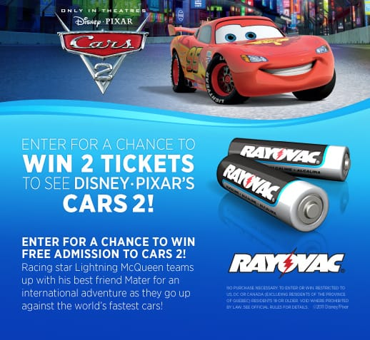 Cars 2 Sweepstakes