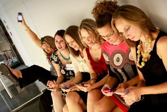 Tweeting at BlogHer