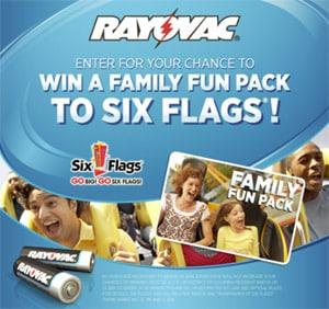 Rayovac Six Flags Summer Promotion