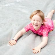 Wordless Wednesday — Olivia Rocks the Slip N Slide