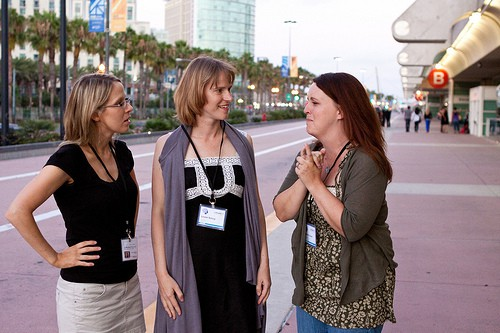 BlogHer'11 Conversations on Route to Convention Center