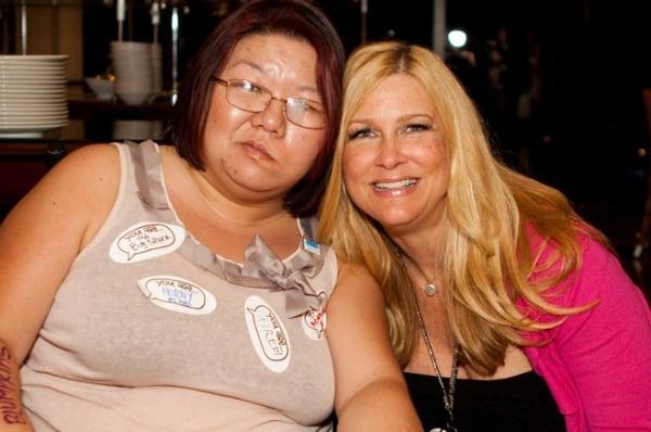 Anissa Mayhew with Barbara Jones at Blogher'11