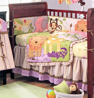 Baby Bedding  Girls on Baby Bedding Baby Animals