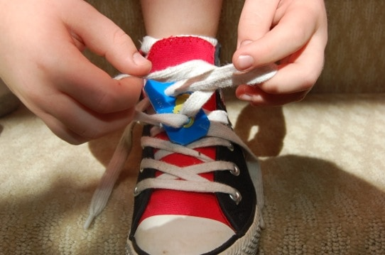 Teach your child how to tie shoes with loopez fast easy and fun while this doesnt shorten the time it takes to tie shoes it took us longer the first couple of times it does make it much easier for small hands to be ccuart Gallery