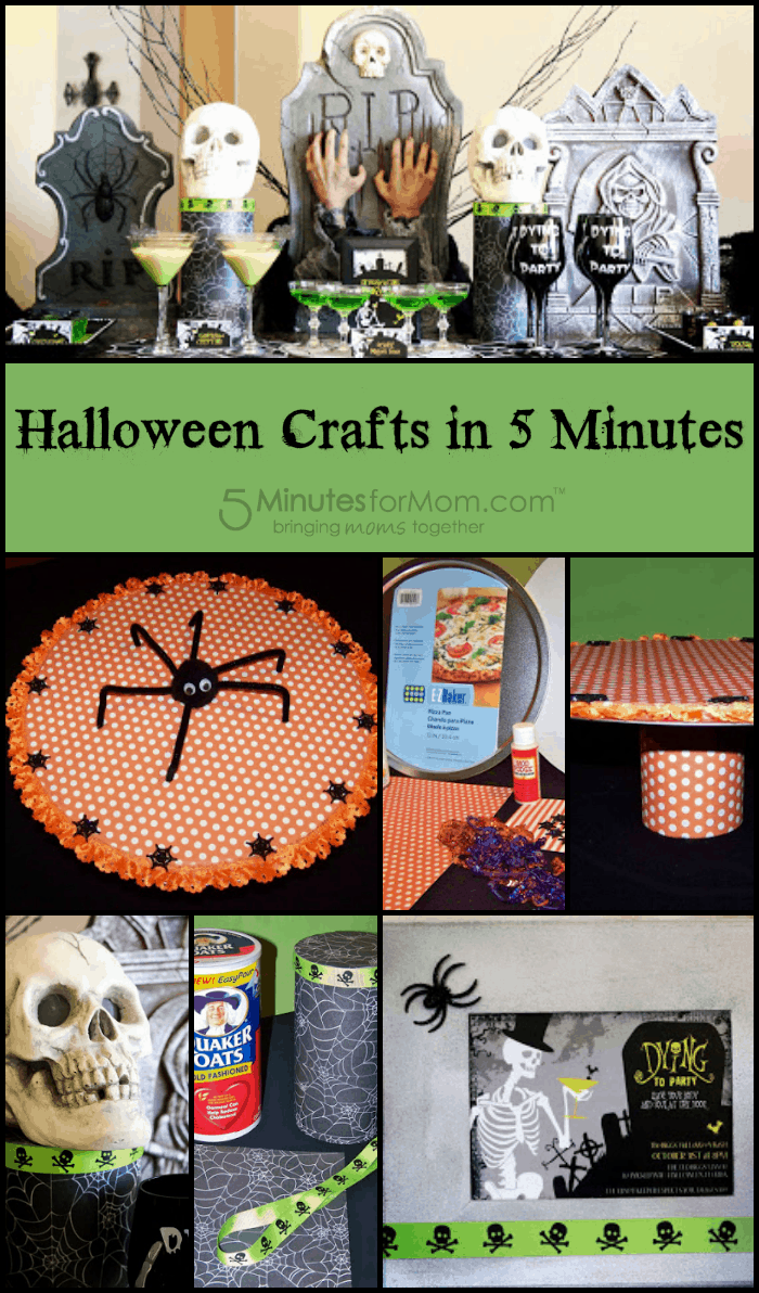 halloween crafts in 5 minutes. Black Bedroom Furniture Sets. Home Design Ideas