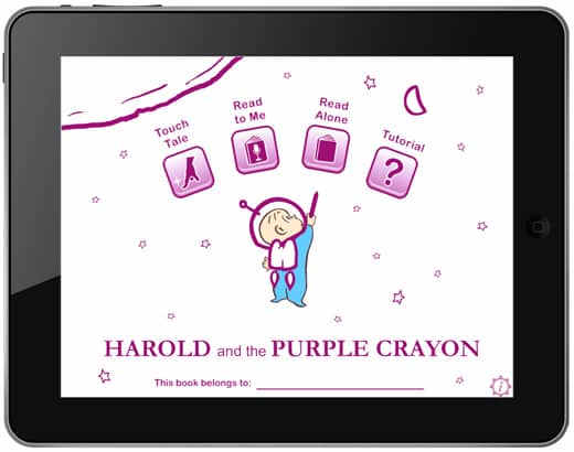 The magic of harold and the purple crayon on ipad for Harold and the purple crayon coloring pages