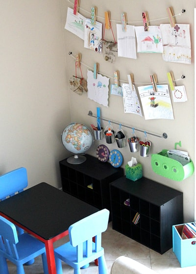 art and homework station