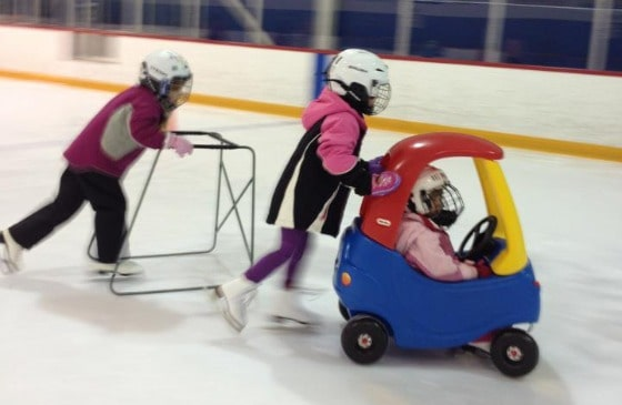 Julia, Olivia and Sophia on the ice