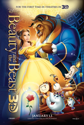 Beauty and the Beast 3D Comes to Theaters 1/13/12