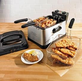Brylane Homes Triple Basket Deep Fryer
