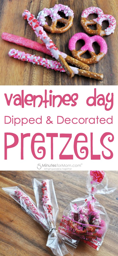Valentines Day Dipped and Decorated Pretzels
