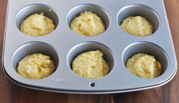 cornbread batter cupcakes