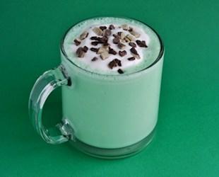Lucky Green Mint Milkshake for St. Patrick's Day