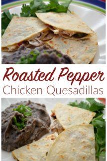 Roasted Pepper Chicken Quesadillas Recipe