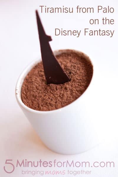 Tiramisu Palo Disney Fantasy