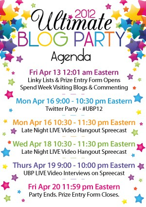 Ultimate Blog Party Agenda