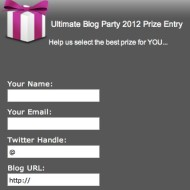 Last Call For UBP12 Prize Entry Forms