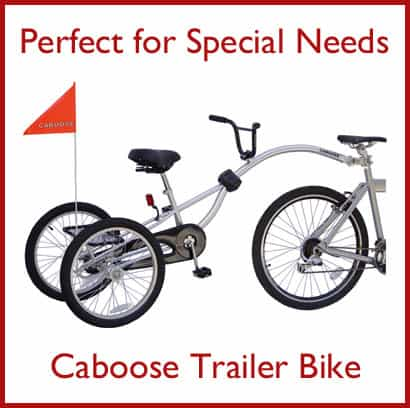 Bikes For Kids With Special Needs Caboose Trailer Bike