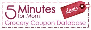 5 minutes for deals coupon database