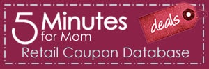 5 minutes for retail coupon database