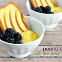 pound cake with tart lemon curd