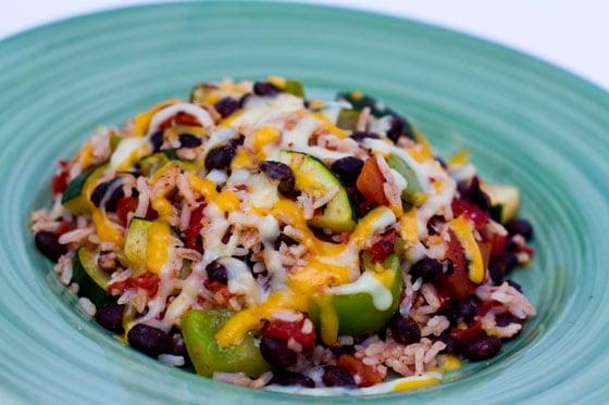 Zucchini, Black Bean and Rice Skillet recipe - the dish
