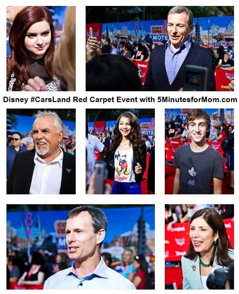 Disney Cars Land Red Carpet Event photo collage