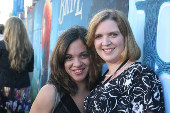 Lolli and Caryn at Brave Premiere