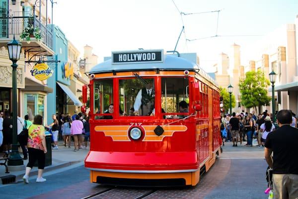 red car trolleys Disneyland