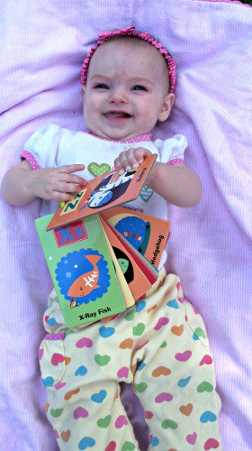 Adalynn and ABC flashcards from eDiaperCakes