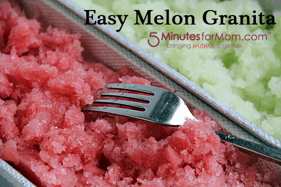 Easy Melon Granita recipe 5 Minutes for Food