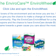 Spin the EnviroWheel for a Chance to Win Coupons and Have $5000 Donated to an Environmental Charity of Your Choice