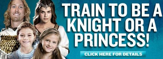 Knight and Princess Training at Medieval Times