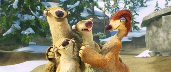 Sid and his family Ice Age Continental Drift