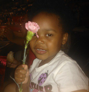 daughter with flower at Medieval Times