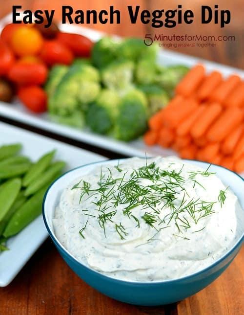 Good food recipes » Easy vegetable dip recipes