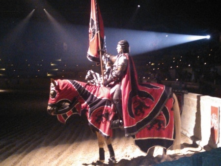 red knight at Medieval Times