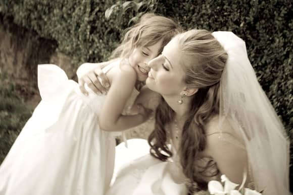 Wordless Wednesday - Flower Girl and Bride